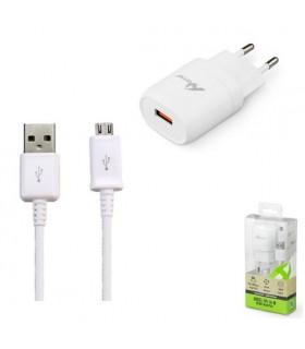 CARGADOR + CABLE MICRO-USB 2.4 A.